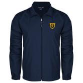 Full Zip Navy Wind Jacket-Lion Head Shield
