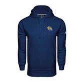 Under Armour Navy Performance Sweats Team Hoodie-Warner Royals w/ Lion