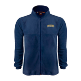 Fleece Full Zip Navy Jacket-Arched Warner University Royals