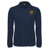 Fleece Full Zip Navy Jacket-Lion Head Shield