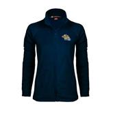 Ladies Fleece Full Zip Navy Jacket-Warner Royals w/ Lion