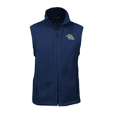 Fleece Full Zip Navy Vest-Warner Royals w/ Lion