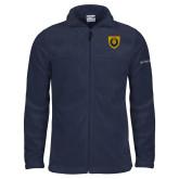 Columbia Full Zip Navy Fleece Jacket-Lion Head Shield