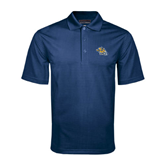 Navy Mini Stripe Polo-Warner Royals w/ Lion