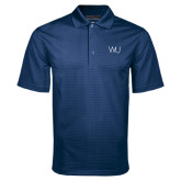 Navy Mini Stripe Polo-WU Cattle Brand