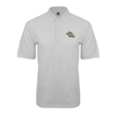 White Easycare Pique Polo-Warner Royals w/ Lion