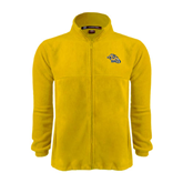Fleece Full Zip Gold Jacket-Warner Royals w/ Lion
