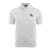 White Dry Mesh Polo-Warner Royals w/ Lion