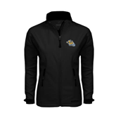 Ladies Black Softshell Jacket-Warner Royals w/ Lion