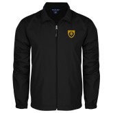 Full Zip Black Wind Jacket-Lion Head Shield