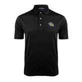 Black Dry Mesh Polo-Warner Royals w/ Lion