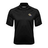 Black Textured Saddle Shoulder Polo-Warner Royals w/ Lion