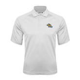 White Textured Saddle Shoulder Polo-Warner Royals w/ Lion
