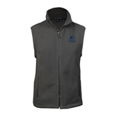 Fleece Full Zip Steel Grey Vest-Official Logo
