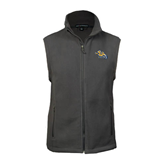 Fleece Full Zip Steel Grey Vest-Warner Royals w/ Lion