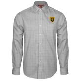 Red House Grey Plaid Long Sleeve Shirt-Lion Head Shield