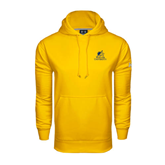 Under Armour Gold Performance Sweats Team Hood-Official Logo