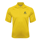 Gold Textured Saddle Shoulder Polo-Official Logo
