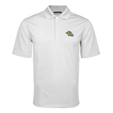 White Mini Stripe Polo-Warner Royals w/ Lion