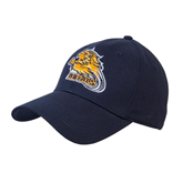 Navy Heavyweight Twill Pro Style Hat-Warner Royals w/ Lion