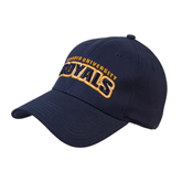 Navy Heavyweight Twill Pro Style Hat-Arched Warner University Royals