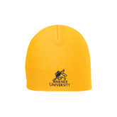 Gold Knit Beanie-Official Logo