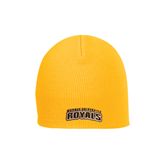 Gold Knit Beanie-Arched Warner University Royals