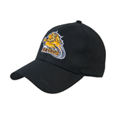 Black Heavyweight Twill Pro Style Hat-Warner Royals w/ Lion