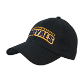 Black Heavyweight Twill Pro Style Hat-Arched Warner University Royals