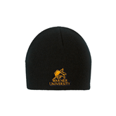 Black Knit Beanie-Official Logo