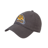 Charcoal Twill Unstructured Low Profile Hat-Warner Royals w/ Lion