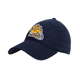 Navy Twill Unstructured Low Profile Hat-Warner Royals w/ Lion