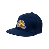 Navy OttoFlex Flat Bill Pro Style Hat-Warner Royals w/ Lion