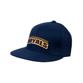 Navy OttoFlex Flat Bill Pro Style Hat-Arched Warner University Royals