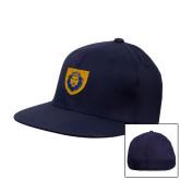 Navy OttoFlex Flat Bill Pro Style Hat-Lion Head Shield