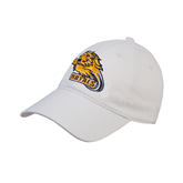 White Twill Unstructured Low Profile Hat-Warner Royals w/ Lion