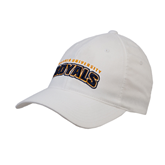 White OttoFlex Unstructured Low Profile Hat-Arched Warner University Royals