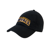 Black Twill Unstructured Low Profile Hat-Arched Warner University Royals