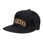 Black OttoFlex Flat Bill Pro Style Hat-Arched Warner University Royals