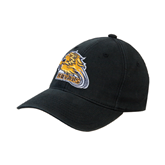 Black OttoFlex Unstructured Low Profile Hat-Warner Royals w/ Lion
