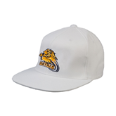 White OttoFlex Flat Bill Pro Style Hat-Warner Royals w/ Lion