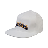 White OttoFlex Flat Bill Pro Style Hat-Arched Warner University Royals