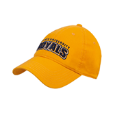 Gold Twill Unstructured Low Profile Hat-Arched Warner University Royals