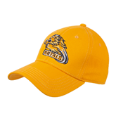 Gold Heavyweight Twill Pro Style Hat-Warner Royals w/ Lion