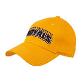 Gold Heavyweight Twill Pro Style Hat-Arched Warner University Royals