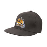 Charcoal Flexfit Flat Bill Pro Style Hat-Warner Royals w/ Lion