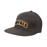 Charcoal Flexfit Flat Bill Pro Style Hat-Arched Warner University Royals