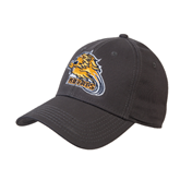 Charcoal Heavyweight Twill Pro Style Hat-Warner Royals w/ Lion