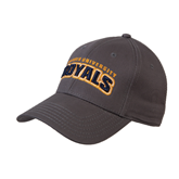 Charcoal Heavyweight Twill Pro Style Hat-Arched Warner University Royals