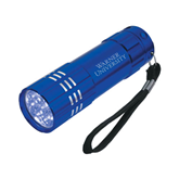 Industrial Triple LED Blue Flashlight-Warner University Stacked Engraved